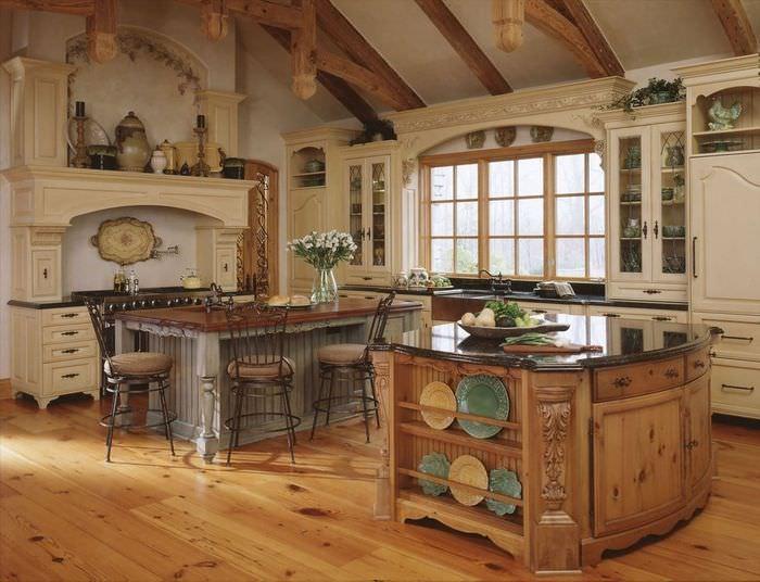 дизайн кухни в старинном стиле фото фэшн-индустрии