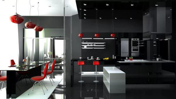 Кухня в стиле хай тек - отличная идея