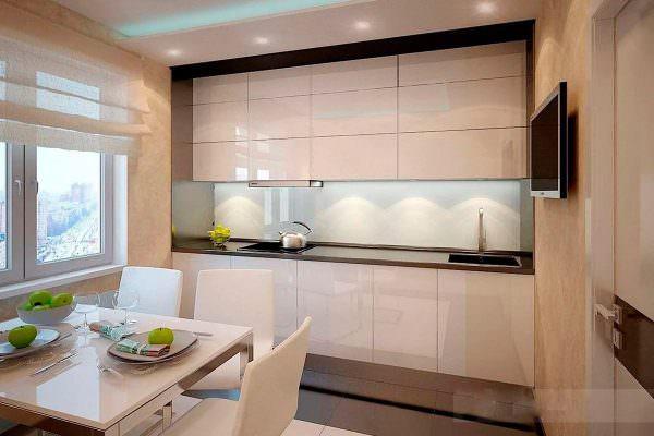 Популярный стиль кухни хайтек легко спутать с минимализмом.