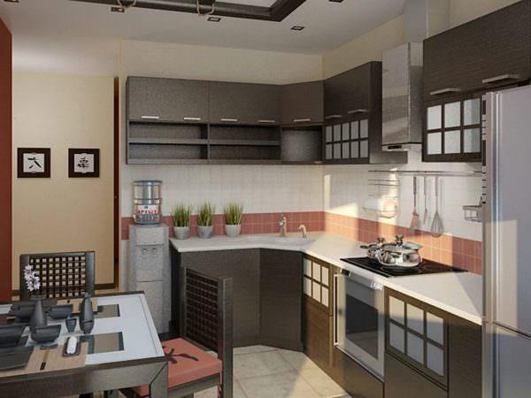 Стены кухонного помещения можно покрасить в успокаивающие цвета.