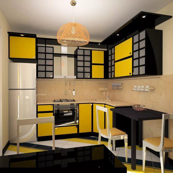 Из мебели кухня в японском стиле комплектуется только самым необходимым минимумом.