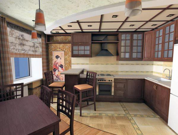 Интерьер японской кухни — это в первую очередь натуральные, приближенные к природным оттенкам цвета