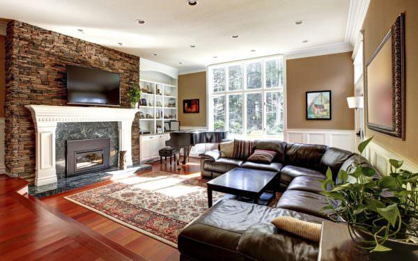 Если вы не хотите, чтобы ваша гостиная выглядела достойно, лучше не использовать скучную мебель стандартных моделей.