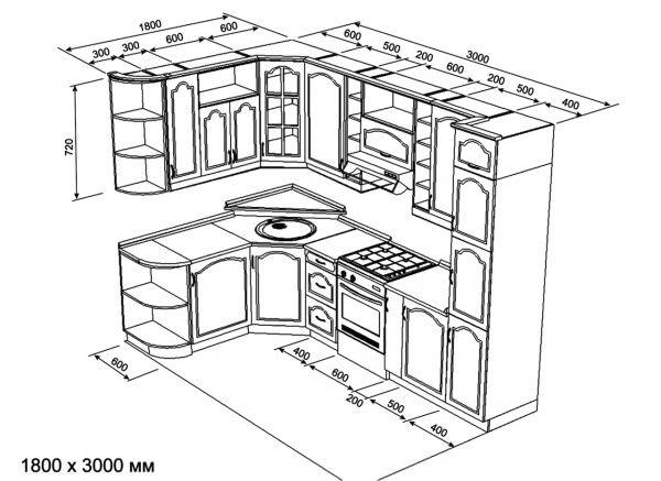 Раскрой – это начертание всех необходимых деталей каждого элемента мебели