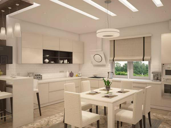 Дизайнерский свет для кухни