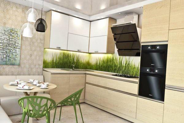Кухонные панели с растительным рисунком