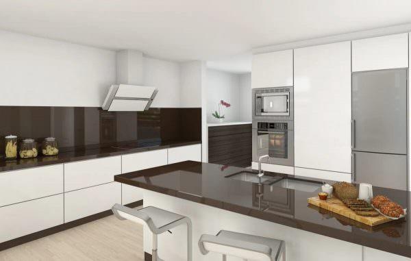 Кухонный гарнитур с системой touch to open