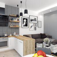 Как разделить кухню и гостиную: барной стойкой, раздвижной
