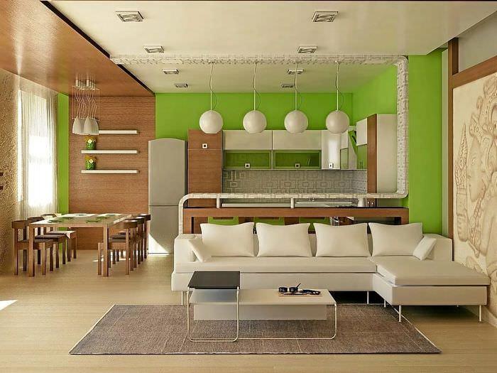 это одно простой дизайн кухни гостиной фото зря сделала
