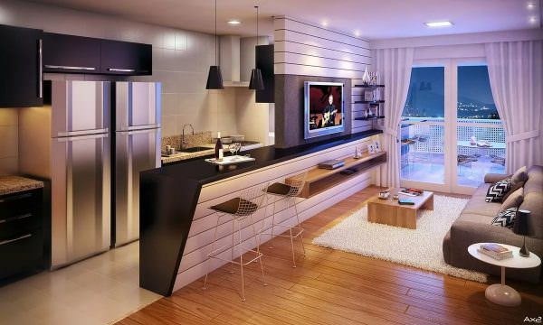 Каждый способ подходит для определенной планировки и стиля интерьера, в некоторых случаях уместна комбинация двух или более приемов в пределах одного помещения.