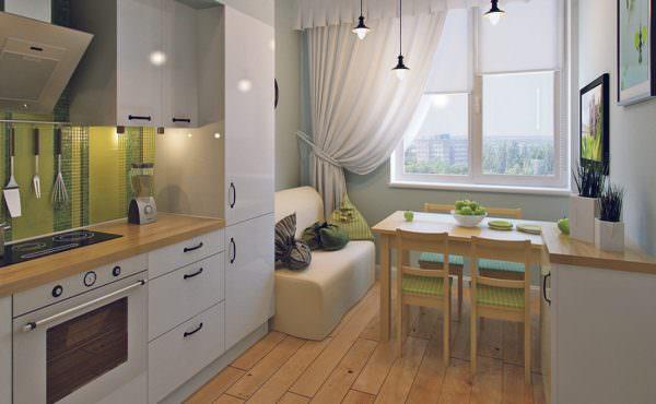 Современный дизайн кухни совмещенной с гостиной 2019 подразумевает обязательное использование дополнительной мебели для комфорта