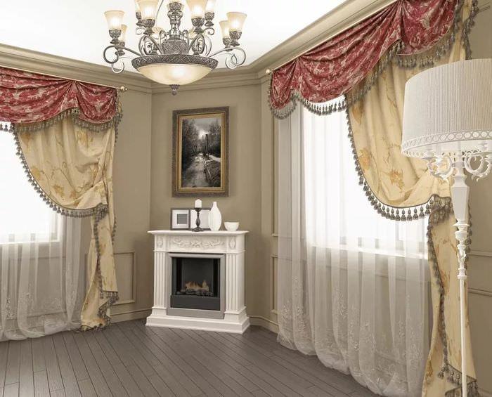 чисто ассиметричные шторы для гостиной фото означает