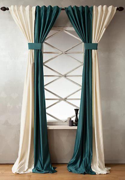Учитывая сезонную ставку на минимализм, неуместно использовать громоздкие аляповатые украшения для штор.