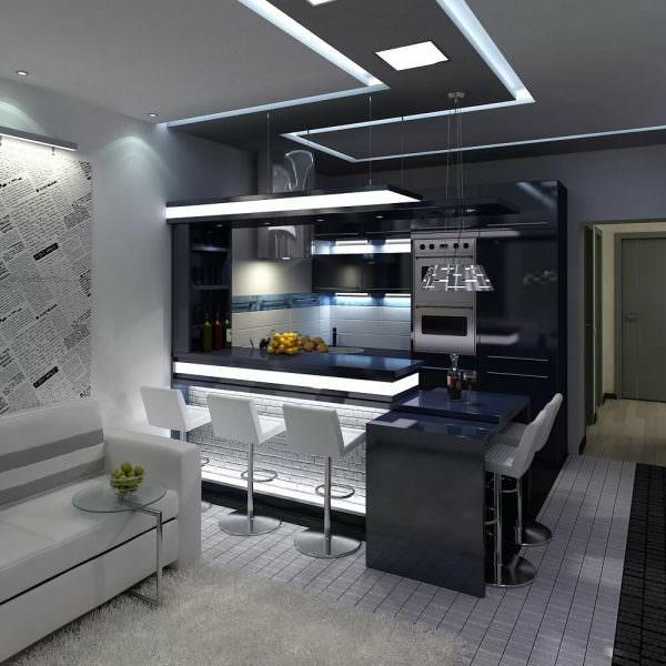 Планирование портального помещения, предназначенного для приготовления, напоминает П-образный проект.