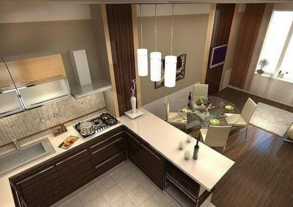 Очень часто кухонные угловые помещения называют Г-образными.