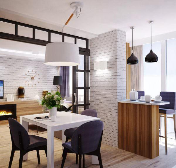 Творческий проект по технологии кухни-столовой включает в себя различные виды планировки.