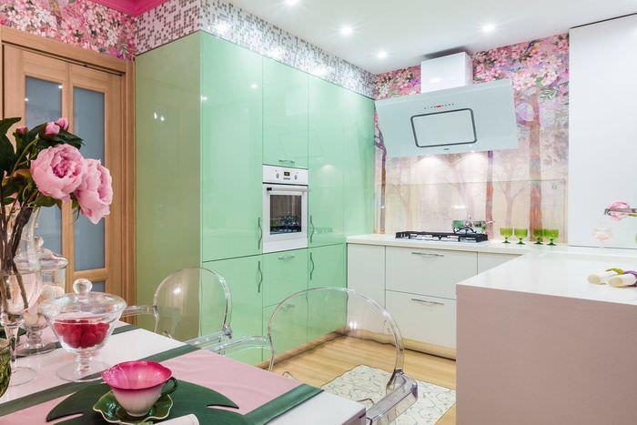 очень розовая кухня в аренду для фотосессии всему прочему