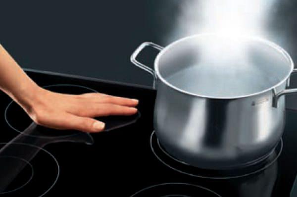 Пища готовится на потоках тепла, которые распространяются нагреванием магнитного поля.