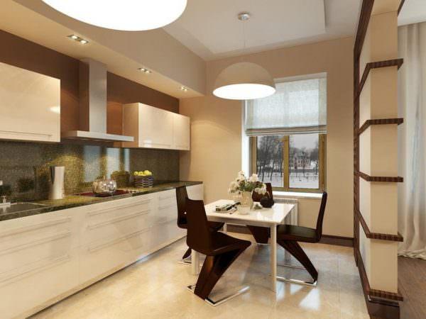Современная бежево коричневая кухня в традиционном стиле станет лучшим выбором для тех, кто ценит удобство, комфорт и уют.