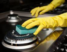 Востребованным средством у хозяек для поддержания чистоты на кухне является средство для чистки плиты и духовки.