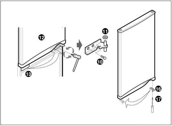 Вопрос, как переставить дверь холодильника на другую сторону, возникает у многих владельцев техники.