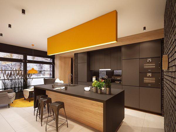 Для современных стилей характерна светлая цветовая гамма в выборе кухонной мебели или, наоборот, яркая и сочная.