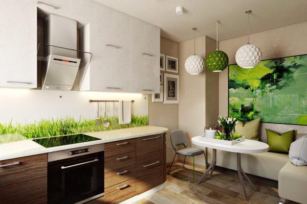 Для эко-интерьеров нет лучшей комбинации, чем коричневый и зеленый.