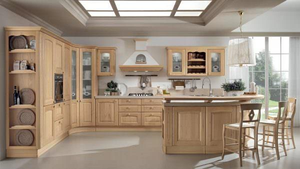 Стильная кухня в бежевых тонах – это вечная классика и элегантность.