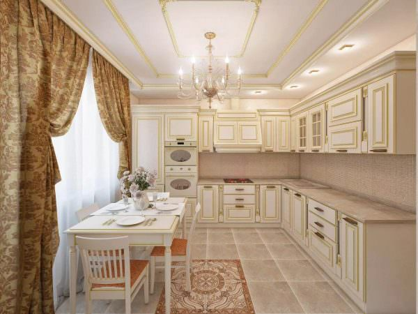Сегодня дизайн кухни в бежевых тонах можно применить для любого помещения.