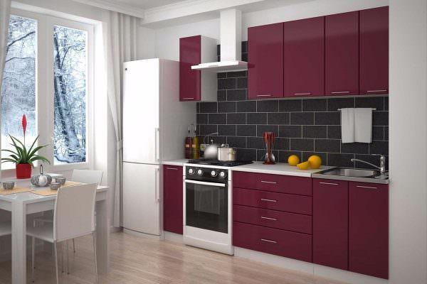 В недавнем прошлом кухня в бордовом цвете считалась привилегией первых лиц государства.