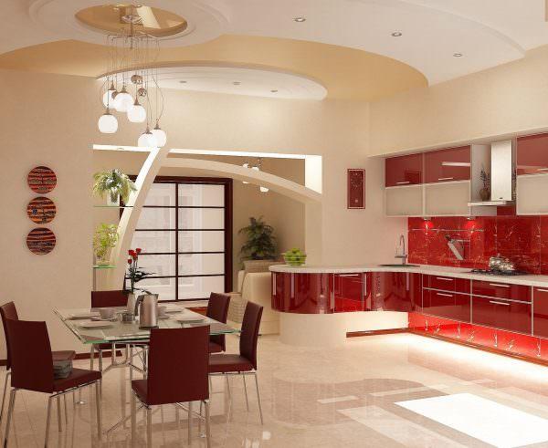 Любителям нежности домашнего уюта и тепла лучше остановиться на варианте с отделочными материалами бежевого цвета