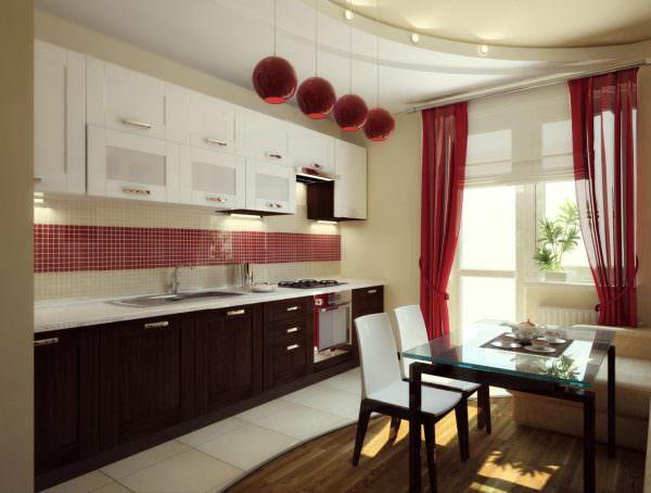 Важным элементом декора любой кухни являются шторы.