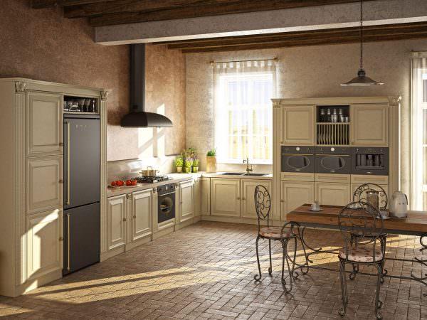 На кухне всегда можно найти место для того, чтобы установить духовой шкаф.