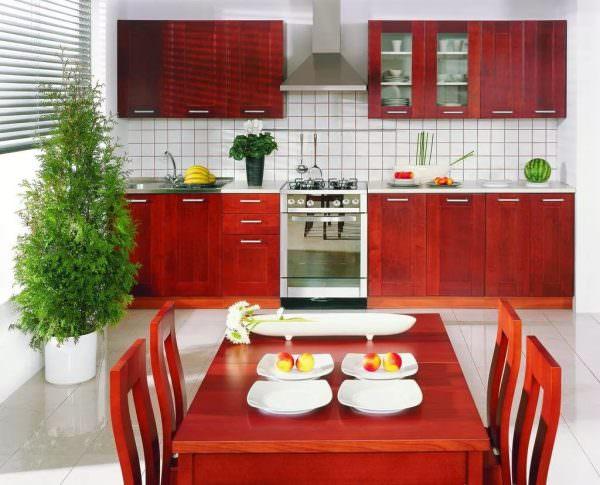 В идеале кухня должна быть в задней части дома.