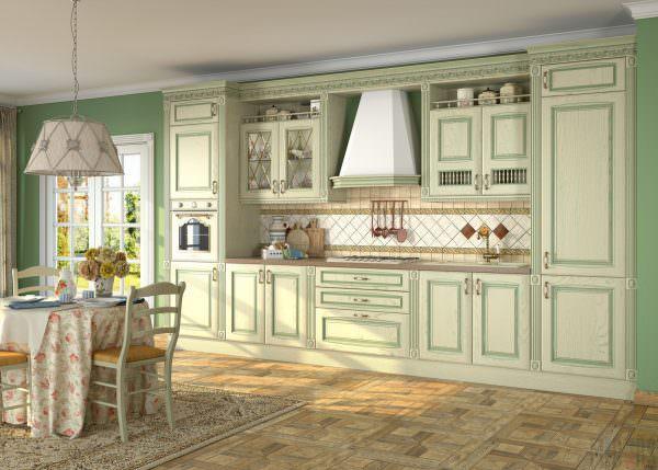 Предпочтителен для декорирования не ярко-зеленый цвет, а «нежные» оттенки.