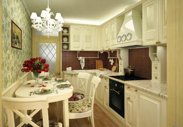 Кухня в классическом стиле всегда выглядит элегантно и ново.