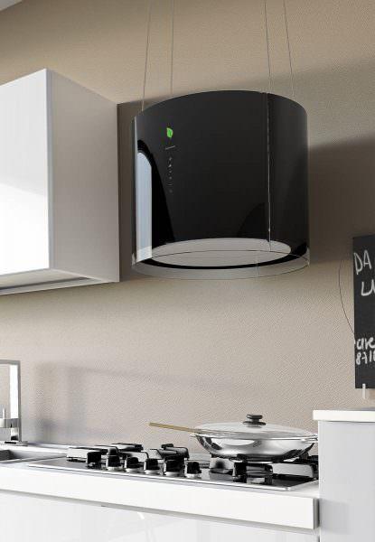 Островная вытяжка подходит для просторных кухонь, для кухонь-гостиных и производственных помещений.