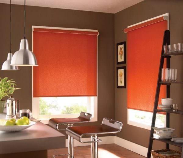 Плотность ткани может быть разной и по-разному пропускать солнечный свет, создавая легкую затененность или погружая помещение в полный мрак.