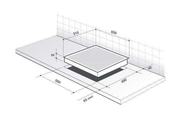Разметка – самый важный шаг при подготовке к врезке варочной панели.