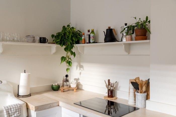 Кухонный интерьер в белом цвете