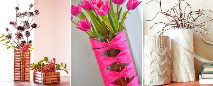 Использование ленты для росписи вазы