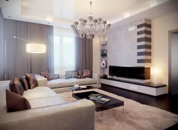 Классика гостиной для уютного пребывания всей семьи