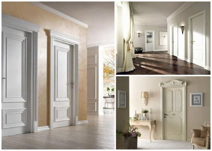Светлые двери в стиле арт-деко