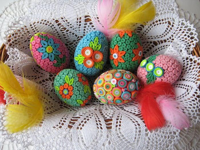 Оформление пасхальных яиц к весеннему празднику