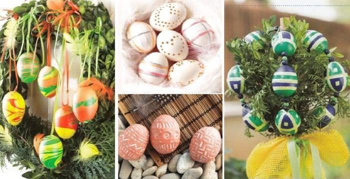 Вариант украшения пасхальных яиц своими руками
