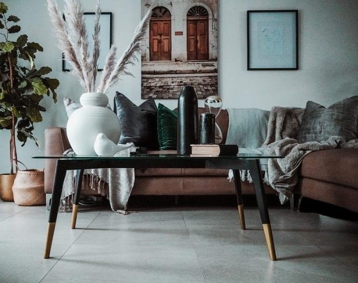 Интерьер гостиной частного дома в скандинавском стиле