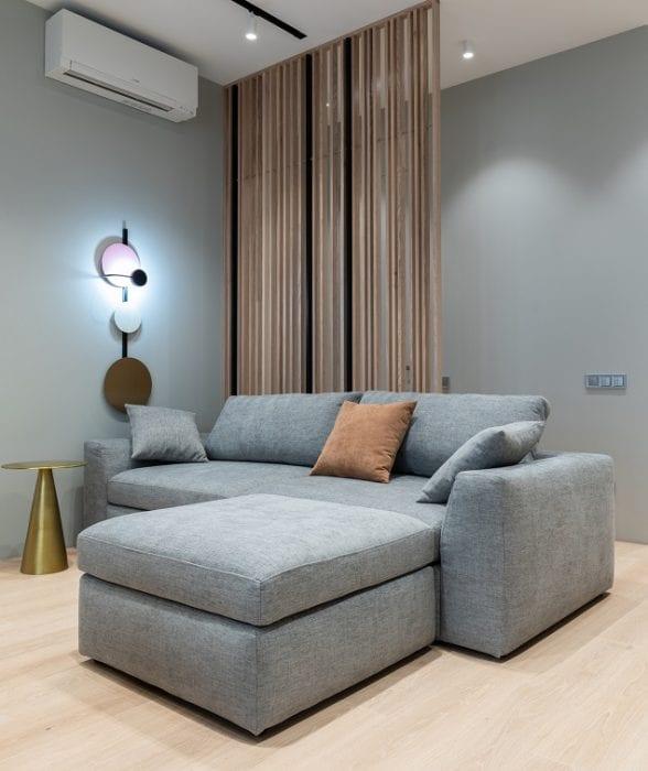 Зональная подсветка дивана